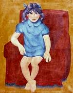 A young girl and a seat