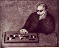 The domino player